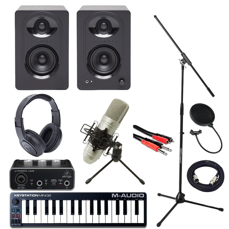 M-Audio Mini 32 MK3 UM2 Interface TM80 M30 SR350 Essentials Bundle