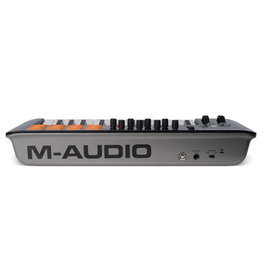 M-Audio Oxygen 25 Keyboard, ART USB Dual Pre, AS800 Microphone, Samson M30 Monitors, Samson SR350 Headphones Essentials Bundle