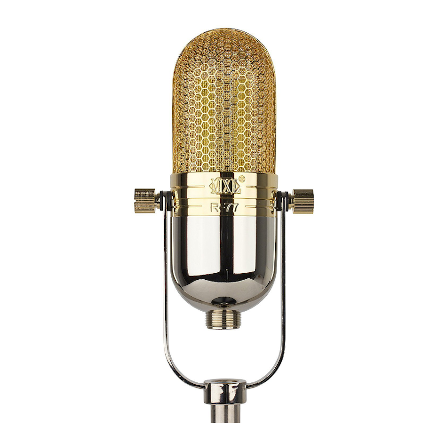 MXL R77 Ribbon Microphone with USM-001-G Gold Plated Shockmount
