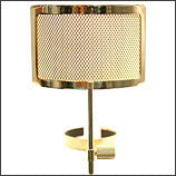 MXL Pop Filter Metal Mesh Pop Filter (Gold)