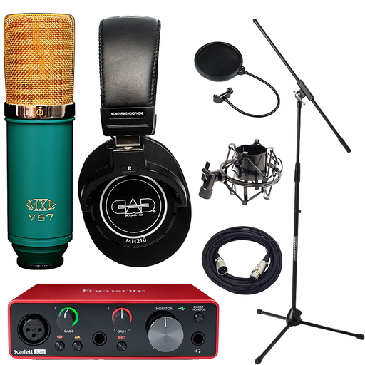 Focusrite Solo Gen 3 MXL V67G Studio Bundle w/ Pro Tools First Essentials Bundle