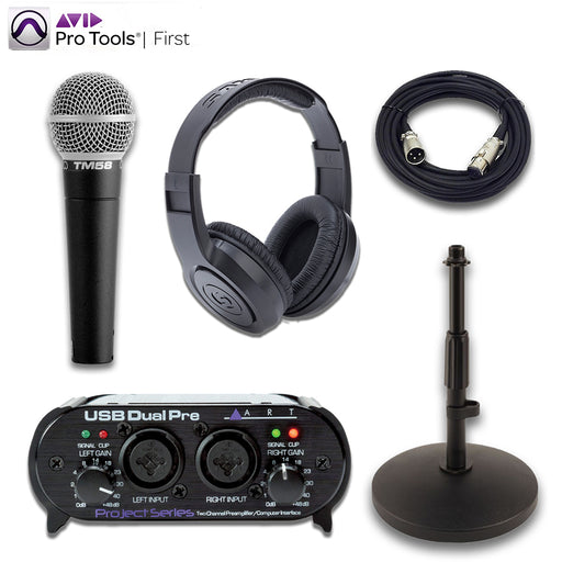 Superlux TM58 ART Dual Pre Samson SR350 Essentials Bundle