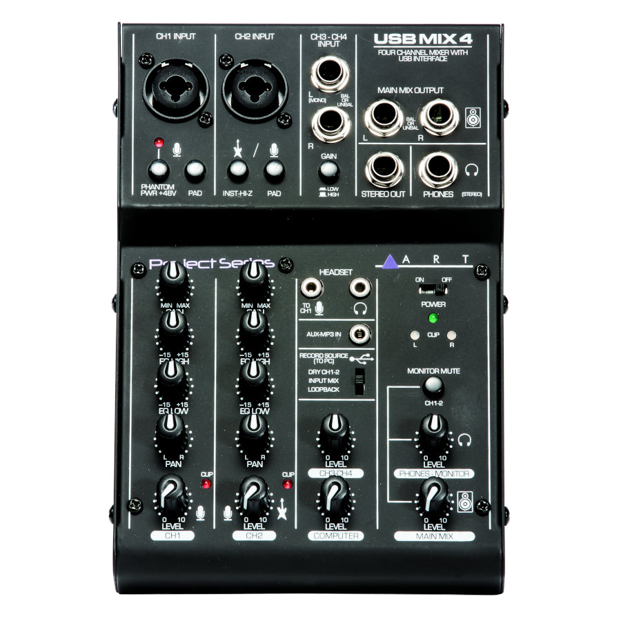 Art Audio USBMix4 – Four Channel Mixer / USB Audio Interface