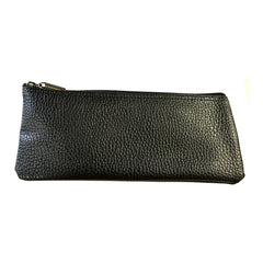 Faux Leather Black Vinyl Zipper Pouch Microphone Bag 4