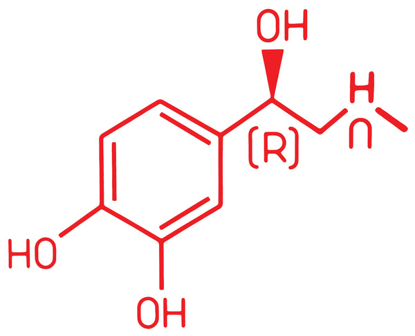 Red Adrenaline Junkies Molecule Sticker