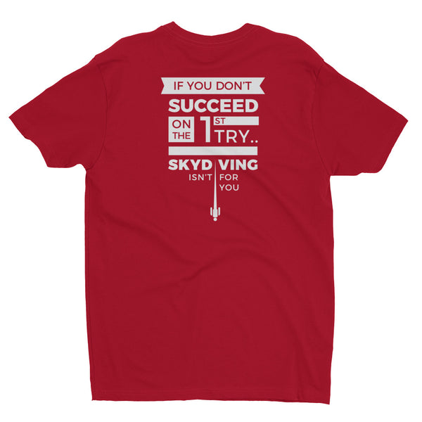 Skydiving Success T-Shirt | Back Print (White) | Adrenaline Junkies