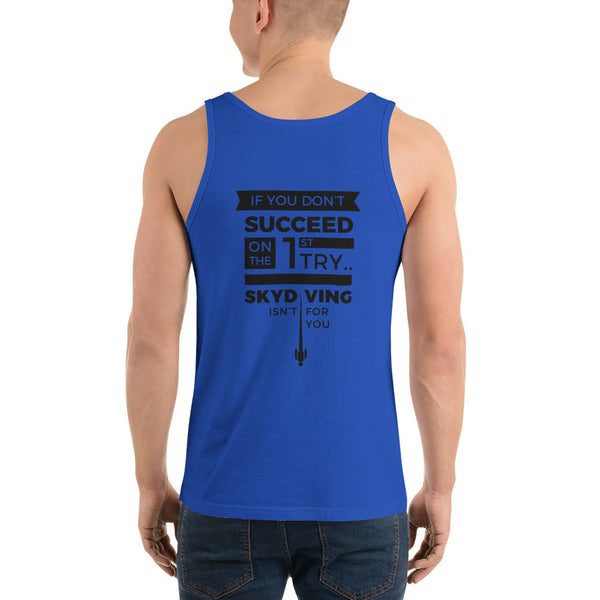 Skydiving Succeed Funny  Quote Tank Top | Adrenaline Junkies