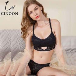 61ad887e25296 CINOON Hot Sale Bra Set Push up Lingerie Lace Underwear Sexy Bra And ...