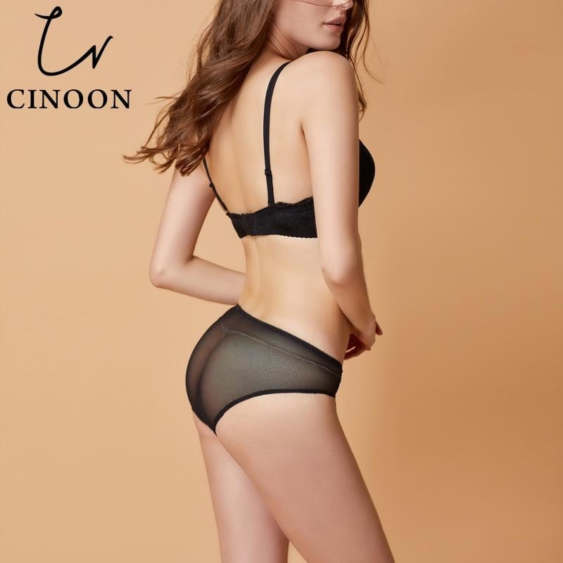 890caab46b0f CINOON Women sexy lace Gather Bra Sets Floral sexy Lace Underwear ...
