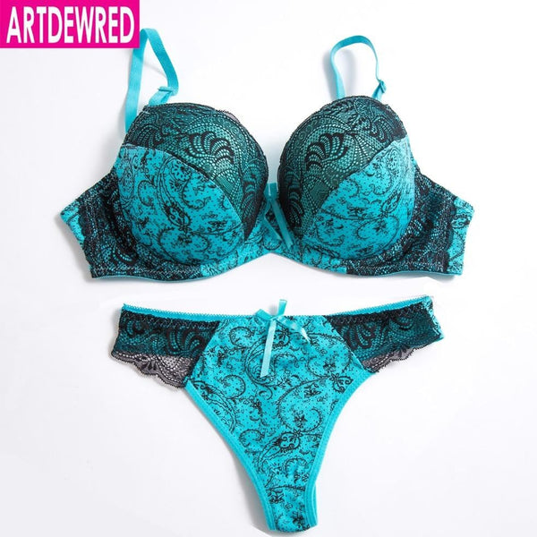 Original authentic high grade push up bra thong sets bras for women underwear bra set lace sexy lingerie panty female underwear