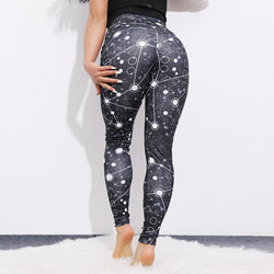 838b1a8944daa0 SVOKOR Laser printing Leggings Women Sexy Fitness Activewear Push Up Pants  Elastic breathable High Waist Workout