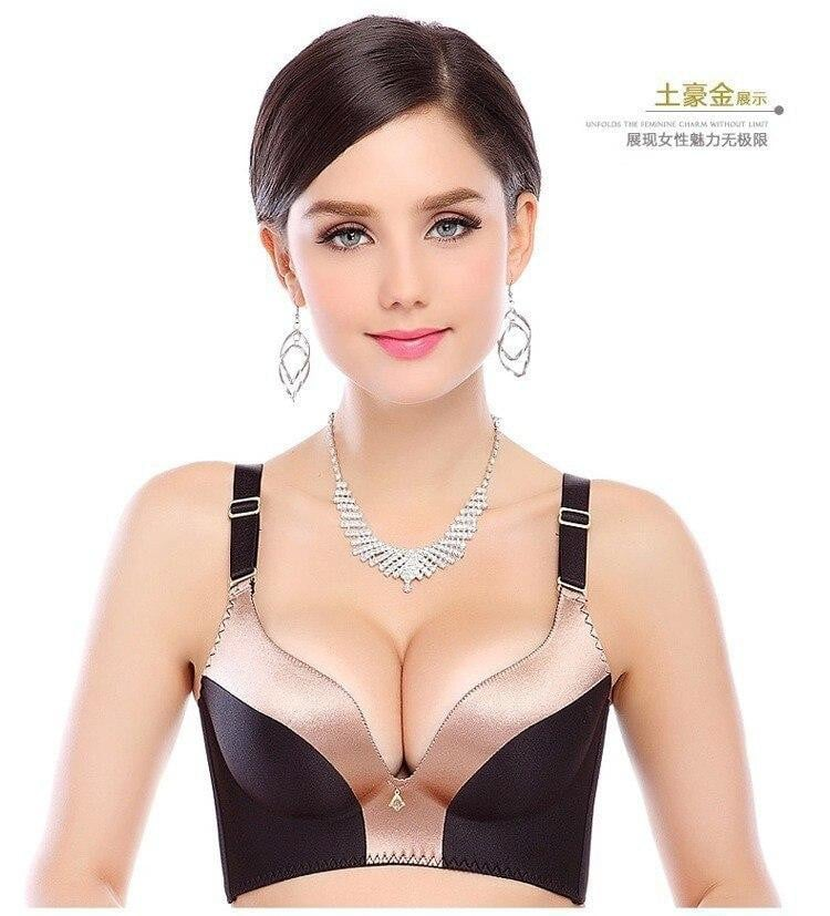 Seamless underwear women sexy push up bra set