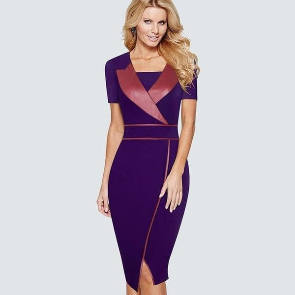 Professional Women Wear To Work Office Business Bodycon Dress Casual