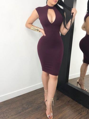 Fashion Women Dress Sexy Bodycon Vestidos Hollow Out Bandage Mini Dress