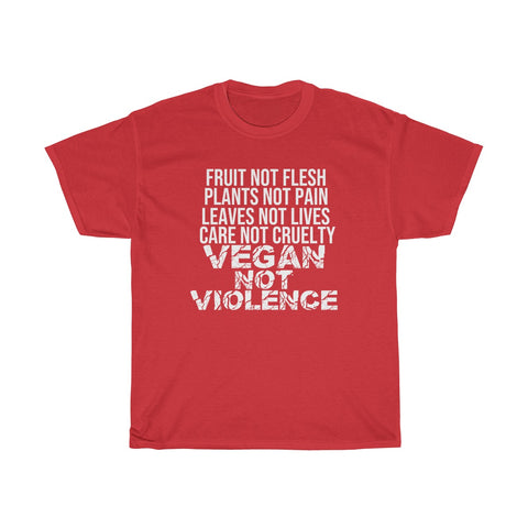 Image of VEGAN NOT VIOLENCE Unisex Tee