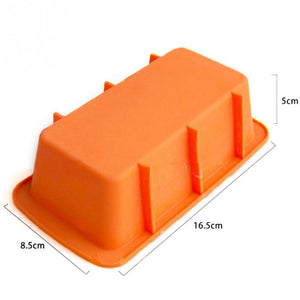 Rectangular Silicone Mold Baking