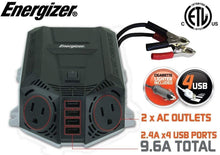 Load image into Gallery viewer, Energizer 500 Watt Power Inverter 12V image of 9.6A compatible USB