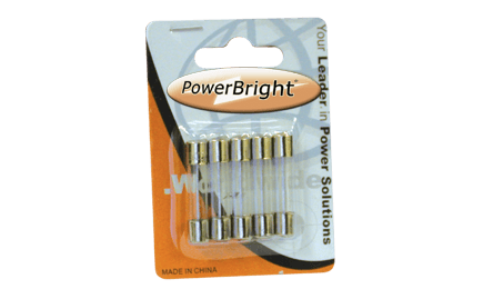 PowerBright F20A - 20 Amp Glass Fuse main image