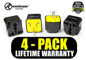 Krieger KR-AUS4 image of 4-pack lifetime warranty
