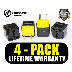 Krieger KR-EUR4 image of 4-pack lifetime warranty