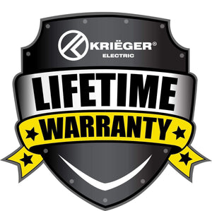 Krieger KR-UKB4 image of lifetime warranty