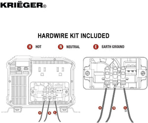 Krieger 4000 Watts Power Inverter 12V to 110V image of hardwire kit