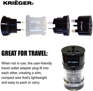 KRIGER Small Size Worldwide International Travel Plug Adapter Kit image of great for travel
