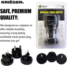 Load image into Gallery viewer, KRIGER Small Size Worldwide International Travel Plug Adapter Kit  image of safe premium quality