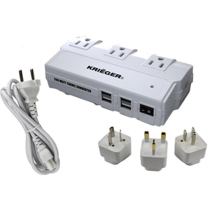KRV200-W 200 Watt Travel Kit Converter with USB charger  image of production inclusion