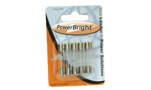 PowerBright F10A - 10 Amp Glass Fuse product image