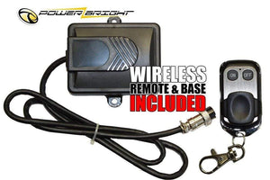 PowerBright PW1100-12 - 1100 Watt 12V  image of wireless remote and base