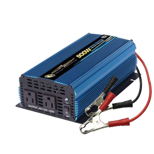 PowerBright PW900-12 - 900 Watt 12V DC to 110V AC power inverter with cables - Voltage Converters and transformers