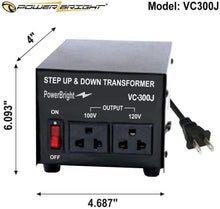 Load image into Gallery viewer, VC300J PowerBright 300 Watts Japanese Voltage Transformers image of product