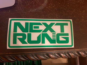 Next Rung Window Decal