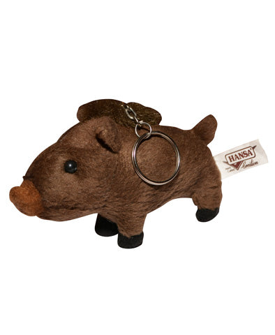 Hansa Wild Boar Plush Key Chain