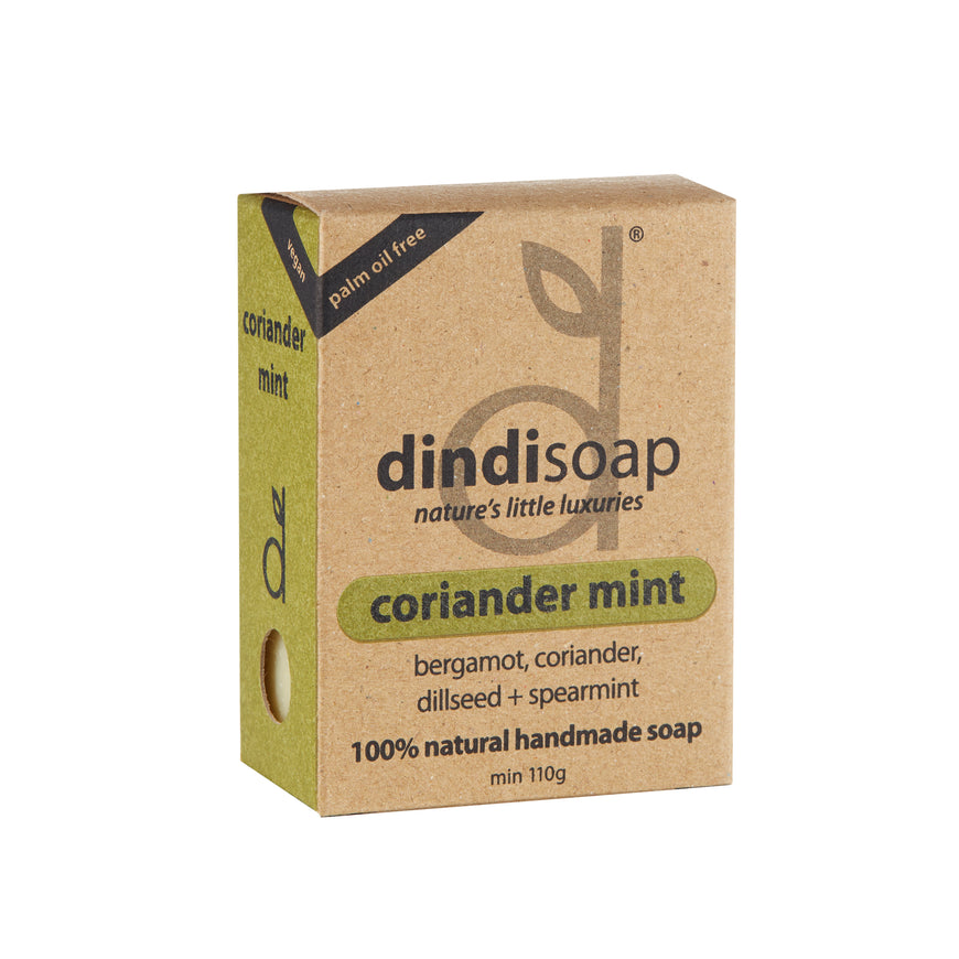 coriander mint boxed bar soap 110g #1009 (rrp$7) x 3pk