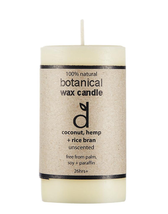 botanical wax candle unscented #3600  (rrp$14) x 3pk