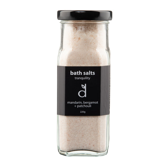 tranquility bath salts 220g glass jar #3316 (rrp$22) x 3 pk