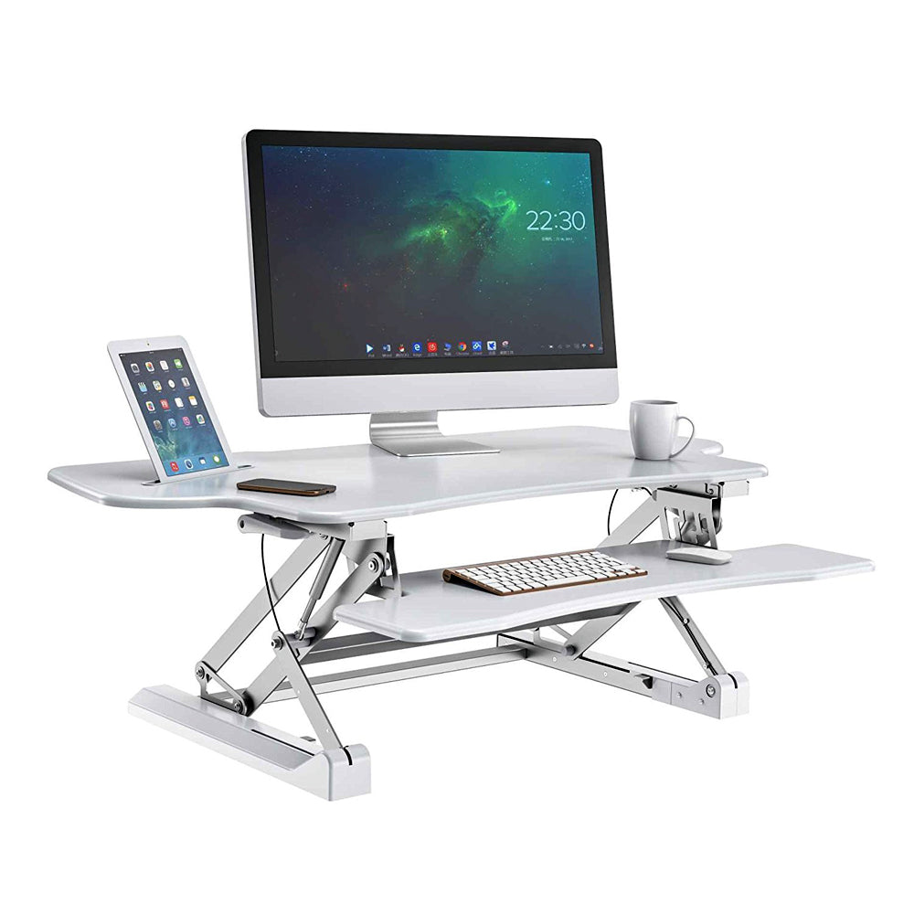 Ergonomic Professional Standing Desk - Zeal Desk Pro 48 Plus ZD-LD07L (White)