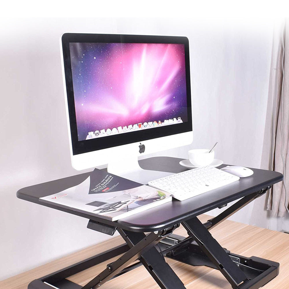 Ergonomic Ultra-Compact Standing Desk - Zeal Desk Eco 27 ZD-LD04 (Black)