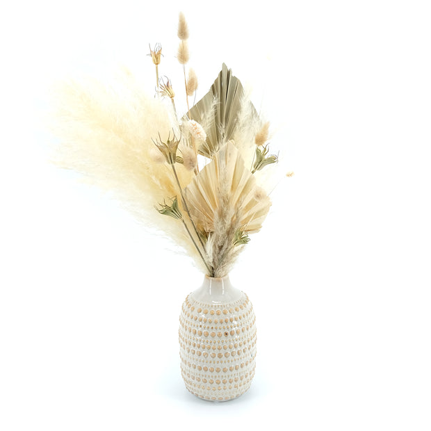 Trockenblumen Arrangement in Boho-Vase