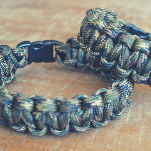 Military Camo - EDC 550 Paracord Bracelet | Seventh Fold Studio