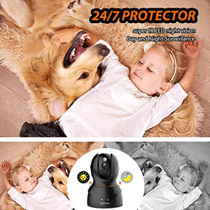 Security Camera WiFi IP Camera - KAMTRON HD Home Wireless Baby/Pet Camera  with Cloud Storage Two-Way Audio Motion Detection Night Vision Remote