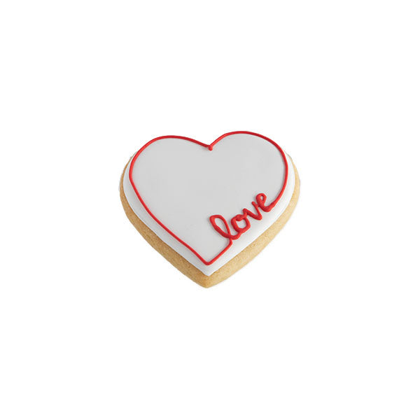 Heart Shaped Cookie with Royal Icing