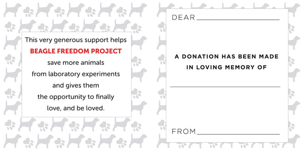 Accessory | In Loving Memory | Donation Card