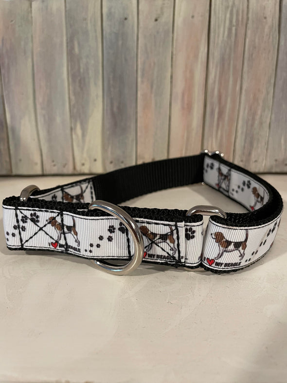 "Limited Edition ""I Love My Beagle"" Martingale Collar"