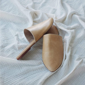 Studio Slide - Tan Leather