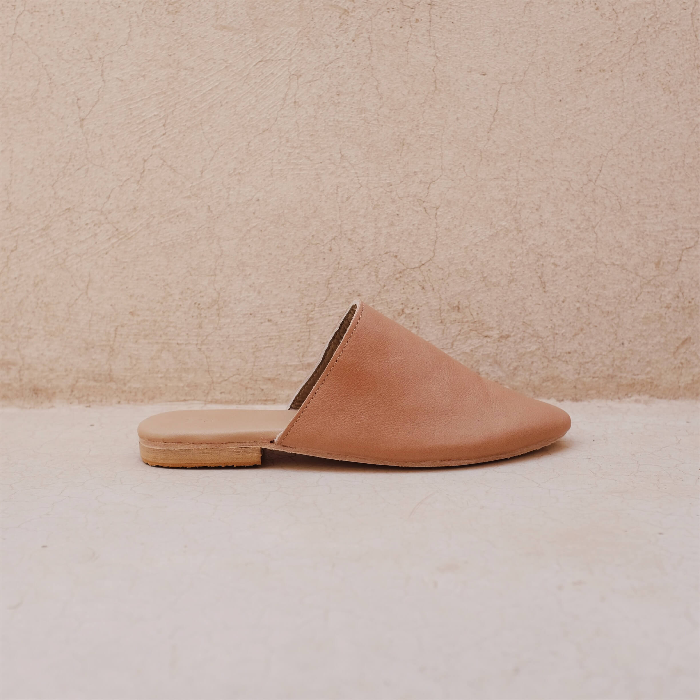 The Lei Studio Slide Almond Leather