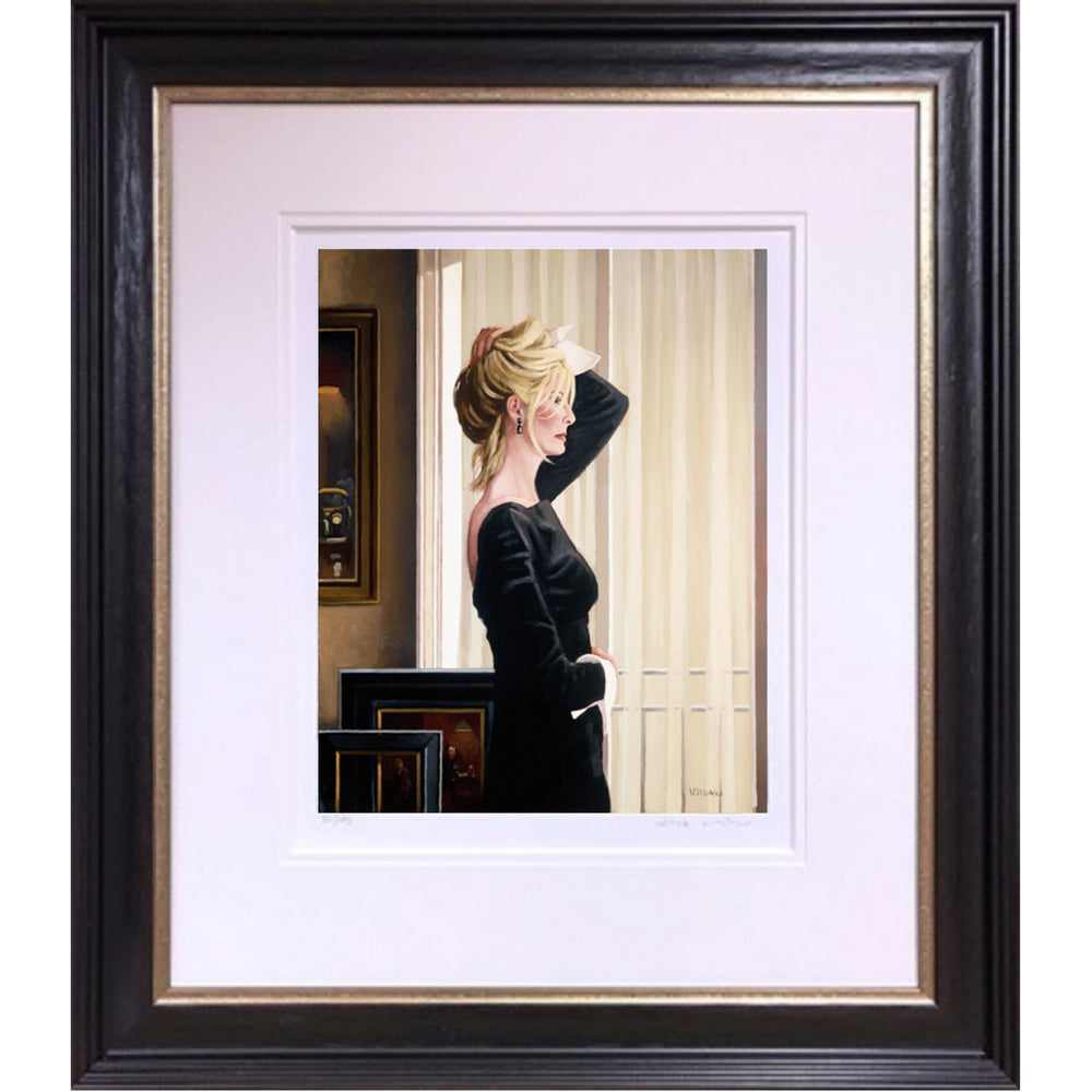 Black on Blonde Limited Edition Print Jack Vettriano Framed
