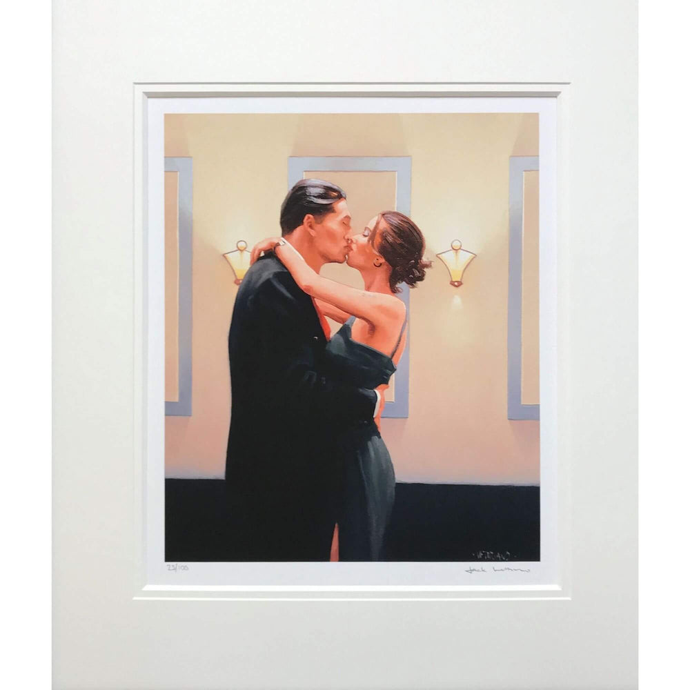 Jack Vettriano Betrayal First Kiss Mounted